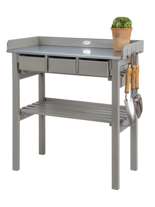 Garden work bench grey