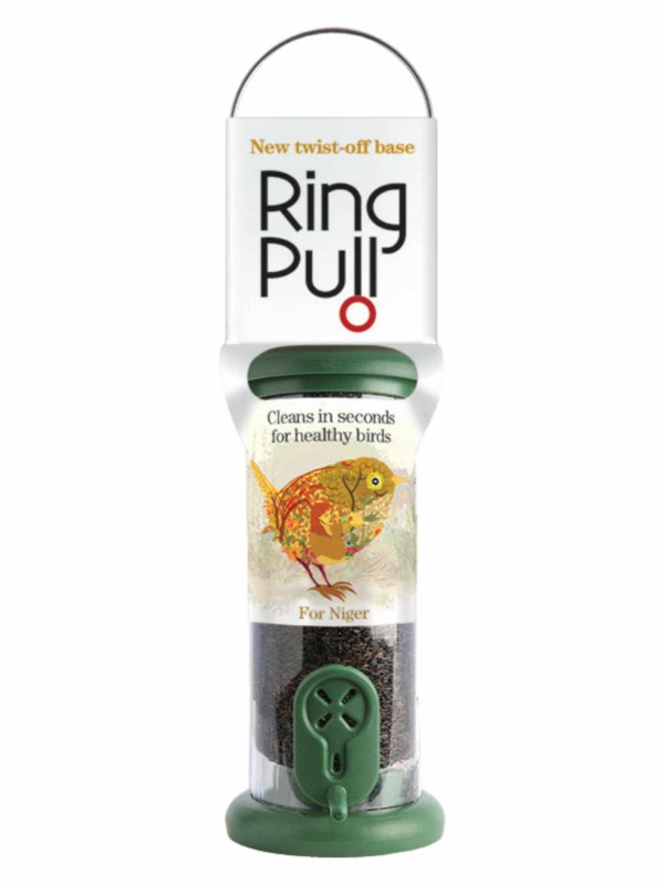 Ring Pull Small Nyger Green Feeder