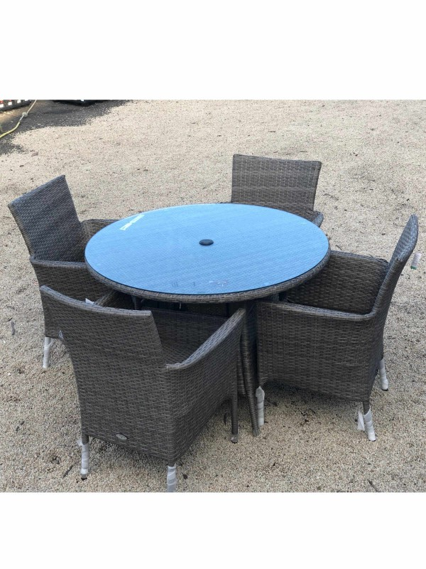 Orla 4 Seater Table and Chairs Set